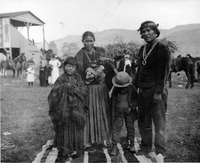 Navajo family at fair