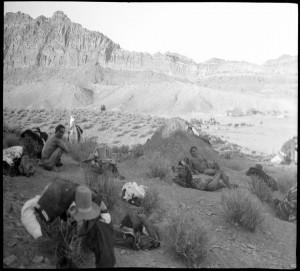 Navajo Men near sweat house 1909-1914