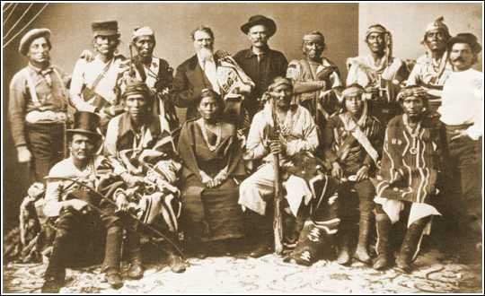 Navajo Delegation to Washington, D. C.  in 1874