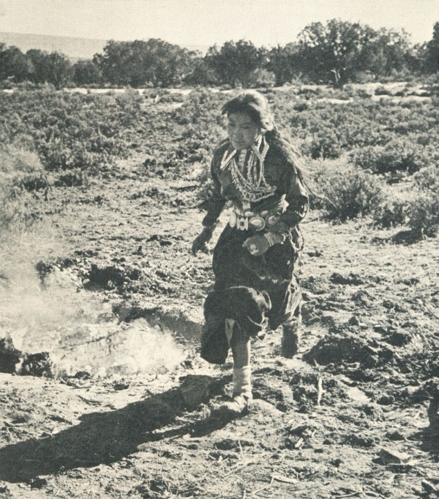 Navajo Girl Running at Kinaalda