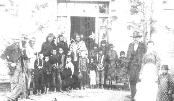 Navajo students at Carlisle upon arrival
