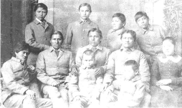 Navajos six months after arrival at the Carlisle School
