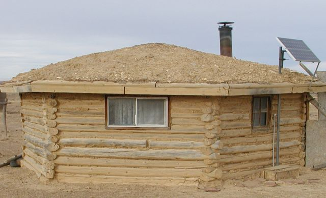 Navajo Home Hogans Or Hohrahn