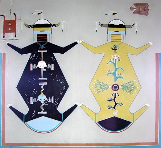 Navajo creation story rug - Mother Earth Father Sky