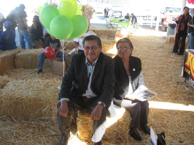 Navajo President Ben Shelly and wife Martha at Shiprock Fair