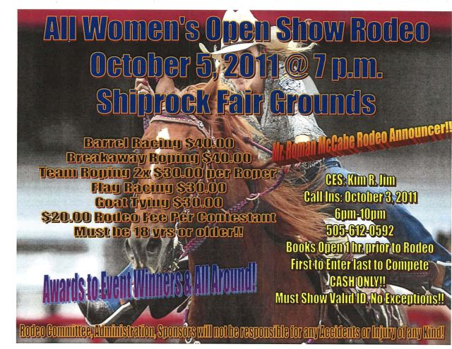 Women's Rodeo at Shiprock Nation Fair