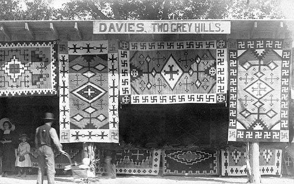 Shiprock Fair 1913, Ed Davies' Two Grey Hills Trading Post Booth