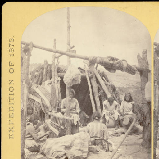 Domestic scene among the Navajo Indians