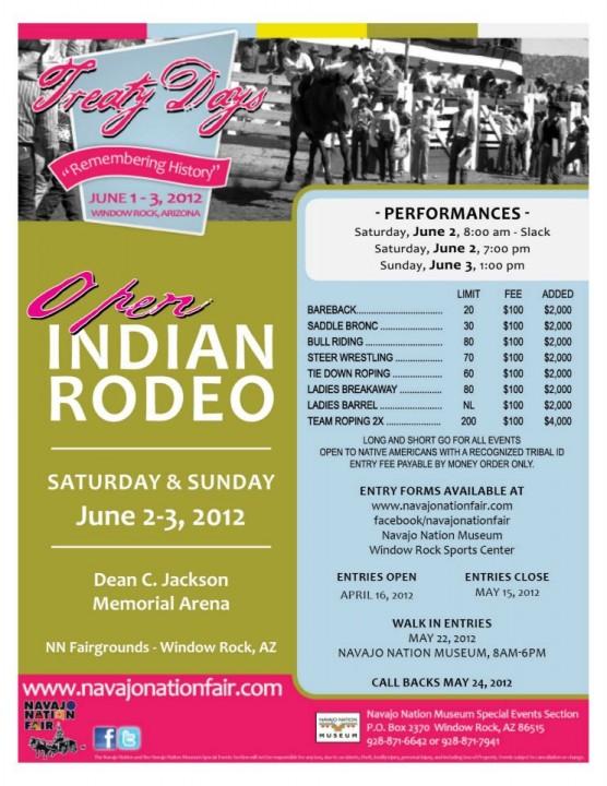 Navajo Treaty Days Open Indian Rodeo