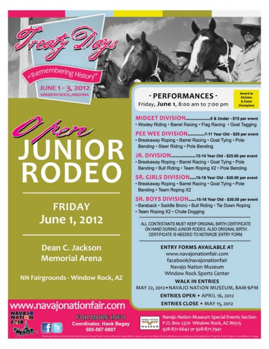 Navajo Nation Treaty Days Open Junior Rodeo