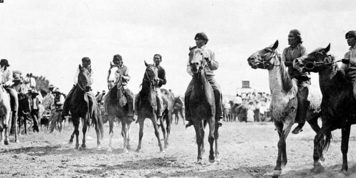 Navajo Bareback Horse Race-- Fruitland