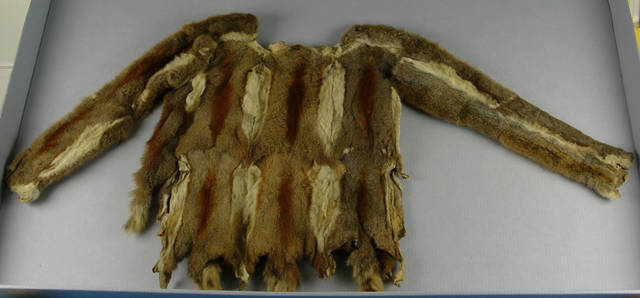 Squirrel Skins Shirt made by Navajo Indians