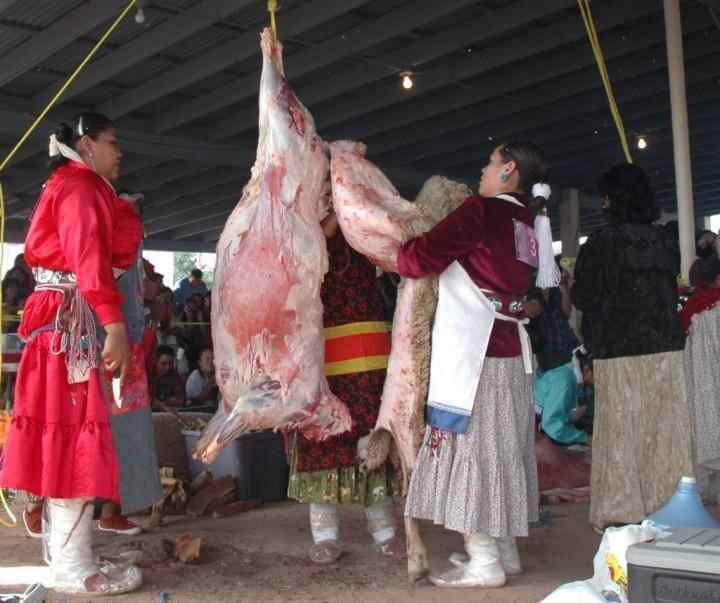 Miss Navajo Sheep Butchering 1