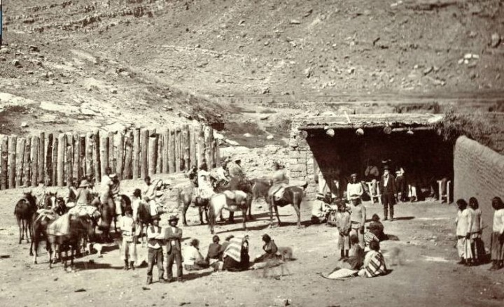 Navajo Women and Men at Fort Defiance 1873