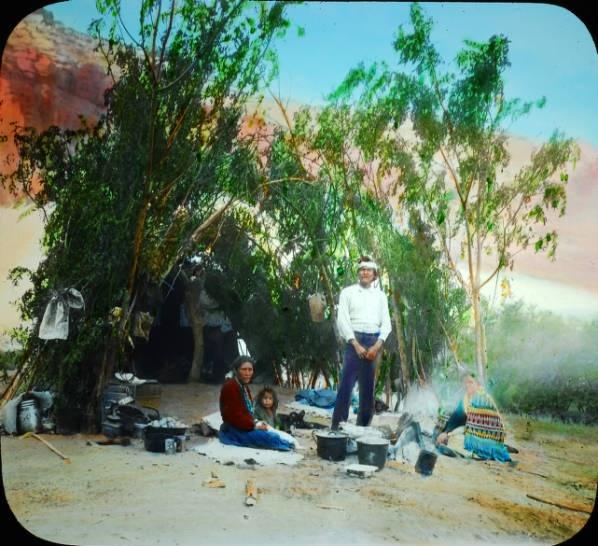 Navajo family in Canyon De Chelly, AZ. Date  1920-1940