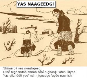 Shoveling Snow - Navajo Language Lesson