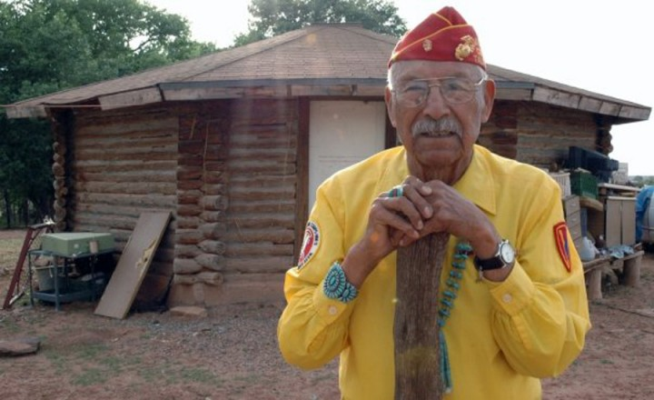 Code Talker Samuel Tso at  Hogan