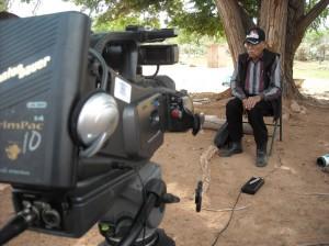 Code Talker Samuel Tso - camera