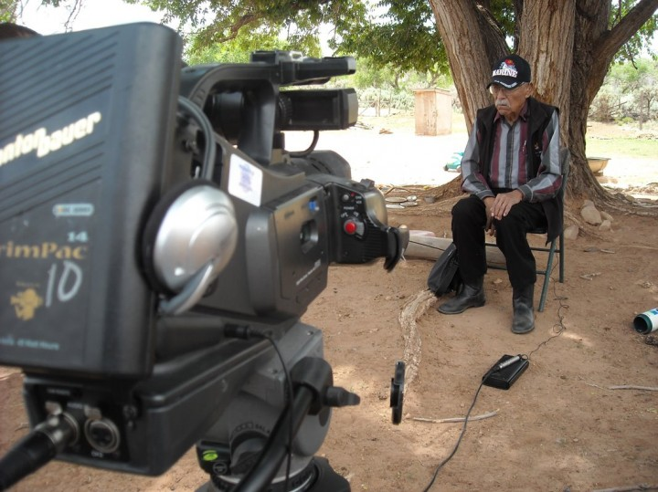 Code Talker Samuel Tso - camera