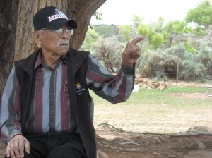 Code Talker Samuel Tso at home