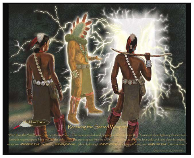 The Navajo Hero Twins Receive Their Weapons