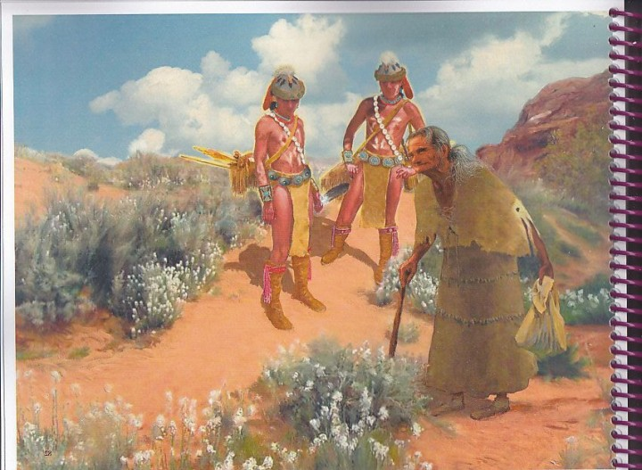 Navajo Old Age Illustration by Charles Yanit