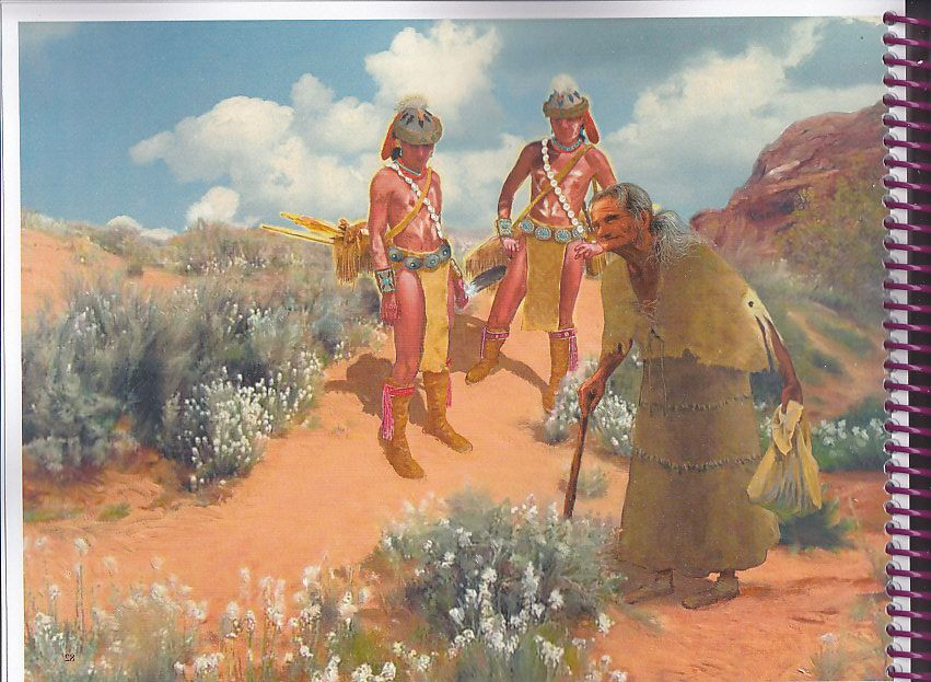 Navajo Old Age By Charles Yanit