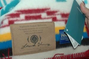 Miss Navajo Nation Leandra Thomas signed shawl