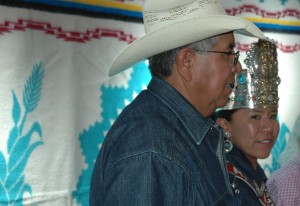 Miss Navajo Nation Leandra Thomas and Father.
