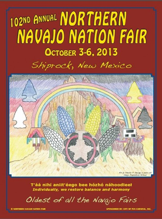 Northern Navajo Nation Fair Poster Contest flyer
