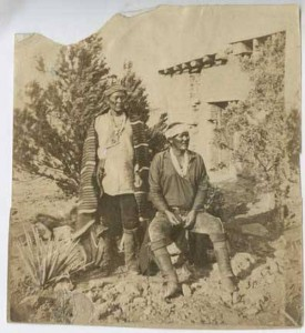 Navajo Chief Manuelito with his brother Chief Cayetanito