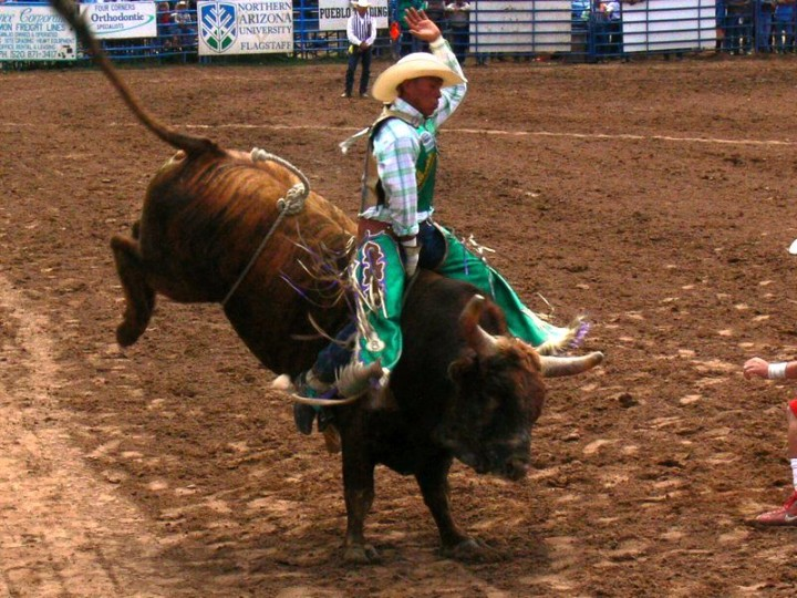 Extreme Bull Riding at Navajo Nation Fair