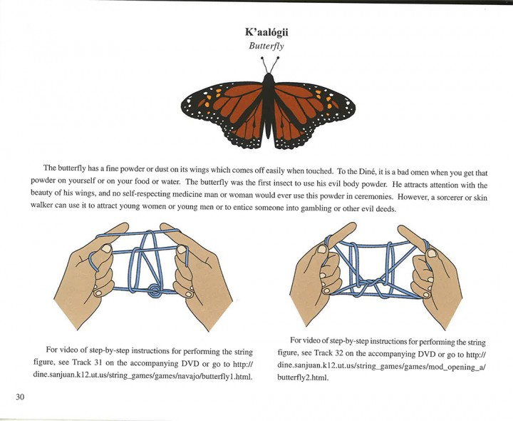Navajo string game butterfly