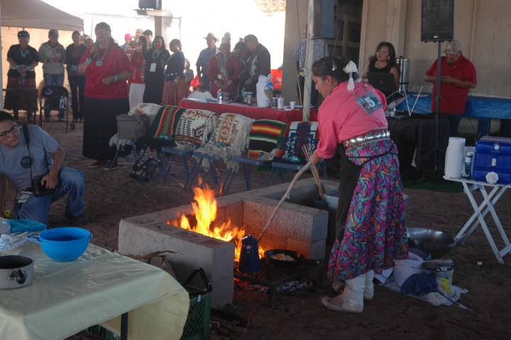 Miss Navajo Bread Making Competition