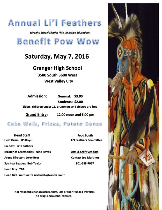 Annual Li'l Feathers Pow Wow.