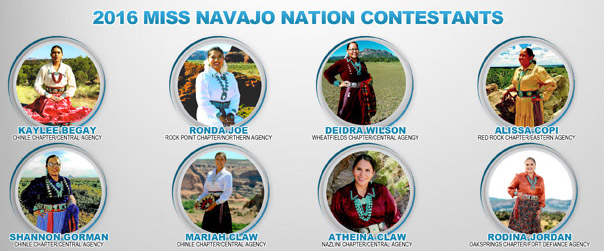 Miss Navajo Nation Pageant Contestants 2016