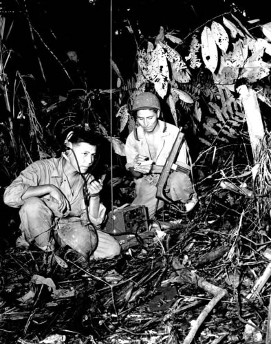 Navajo code talkers in jungle