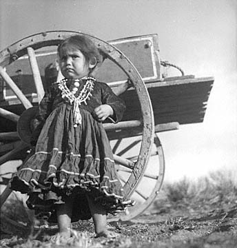Navajo Child of the Clyde Peshlakai family at Wupatki