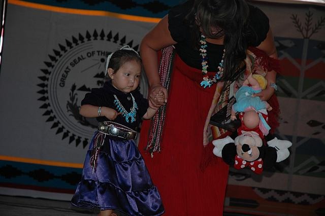 Navajo Child in Traditional Dress