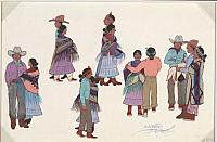 Painting Titled: Navajo Indians Square Dancing