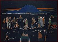 Squaw-Dance-Painting-by-1965-Charles-Yazzie-Diné-Navajo