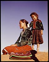 Profile of Young Navajo Mother and Child