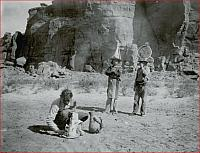 Navajo Men in Hats in Chaco Canyon, New Mexico - 1919