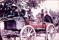 Navajo Family in Wagon on way to fair