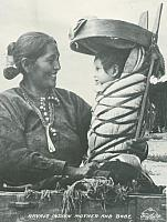 Navajo Mother and Baby in Cradleboard