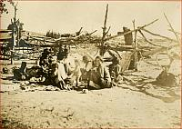 Navajo camp, base of Carriso Mountains., Arizona 1909