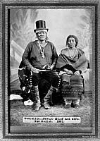 Navajo Chief Manuelito and wife Juana