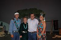 Mr. and Miss. Indian Shiprock High School with Navajo President and Wife