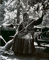 The mother of Mrs. Mary Ann Robbins Spinning Wool