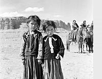 2 little Navajo girls at Marble Canyon Rodeo